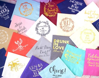 Custom Napkins, Event Napkins, Wedding Napkins, Party Napkins, Birthday Napkins, Rehearsal Dinner, Bridal Shower, Personalized Napkins,