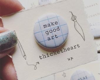 make good art button