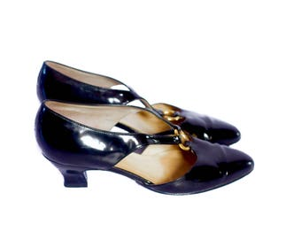 Vintage Bally black patent Mary Jane shoes size 5