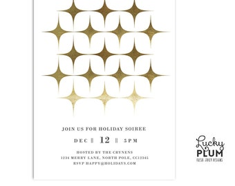 Holiday Party Invite / Modern Christmas Party Invite / Modern Christmas Invite / Christmas Party Invitations / Holiday Invitation