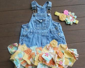 Tattered dress, tattered skirt, pixie skirt, tattered pixie skirt, upcycled recycled repurposed, upcycled clothing, jean overall dress