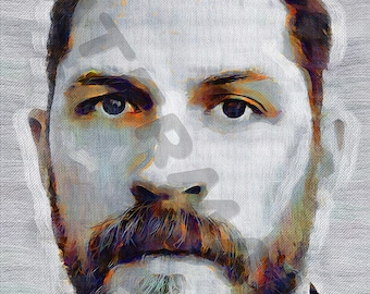 Tom Hardy Art Print - Oil Painting Poster  LFF0202