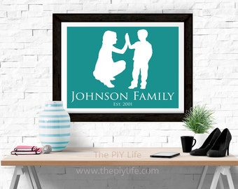 Home Decor | Single Mom Family Love Wall Art, Gift, Printed Art, Digital Art, Office, Free Shipping Black Friday Sale