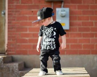 Always Having A Blast Kid's Trendy Tee Or Bodysuit Baby Toddler Boy Girl Clothing