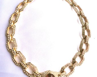 Stunning Vintage  Haute Couture Necklace signed Ciner