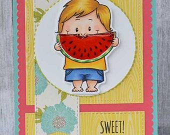 Handmade Greetings card, Sweet!, love/frienship card