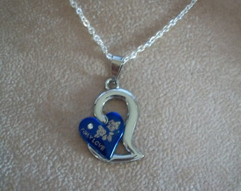 Double Heart Necklace, Only Love, by Brendas Beading on Etsy