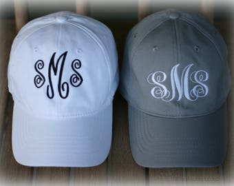Monogram Ballcaps- Save on 2 Hats- Ladies Monogram Hats-Summer Hat-Preppy Ballcap-Girls Trendy Gift-Personalized Gift-Me and Mom Ballcap