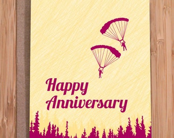 anniversary card / surviving / funny greeting card