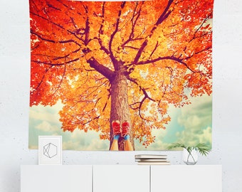Autumn Tapestry | Autumn Wall Tapestry | Tree Tapestry | Tree Wall Tapestry | Autumn Wall Decor | Autumn Wall Hanging | Tree Wall Decor