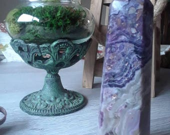Purple flourite with mix sediment