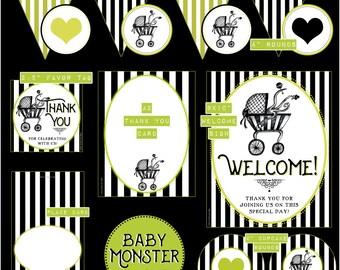 Baby MONSTER // Gender Neutral Baby Shower DIY Kit