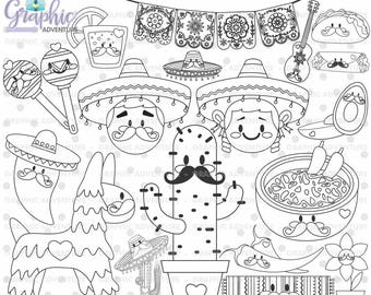 75%OFF - Mexican Stamps, Digi Stamp, Digital Stamp, Mexico Coloring Page, COMMERCIAL USE, Mexico Digistamp, 5 de Mayo, Festive 5 de Mayo