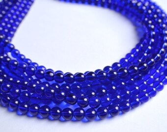 Michelle - Cobalt Glass Multi Strand Bridesmaid Statement Necklace