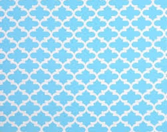 Fynn Regatta Sky Blue – Premier Prints | Fabric By The Yard | Trellis Fabric | Made in the USA fabric | Cotton Drapery | Sky Blue Fabric