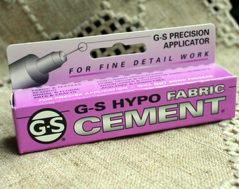 Craft Adhesive G-S Hypo Fabric Cement 1/3-Ounce Tube