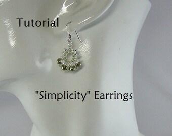 Tutorial, Simplicity Earrings, Swarovski Pearl - Instant Download