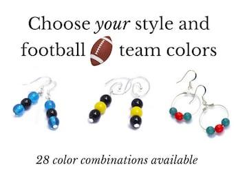 Football Earrings - Football Fan Gear - Football Team Spirit Jewelry - Game Day Gifts - Football Team Mom Gifts - Team Spirit Wear Ideas