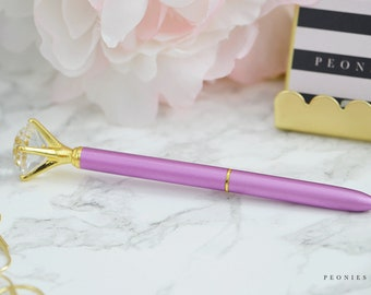 Lilac and Gold Diamond Pen