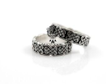 Celtic wedding rings Etsy