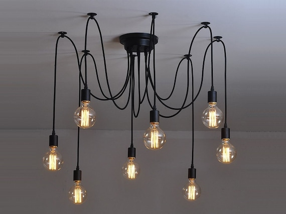 Spider chandelier 6 12 pendant light industrial lighting te gusta este artculo aloadofball Image collections