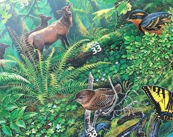 Pacific Coast Rain Forest Unused Postage Stamps