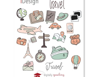 Travel Fillable Keynote Shapes