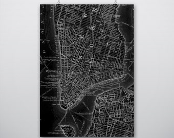 Maps | Old New York Map 1866