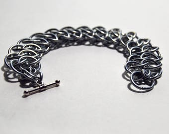 Steel GSG Bracelet with Toggle Clasp
