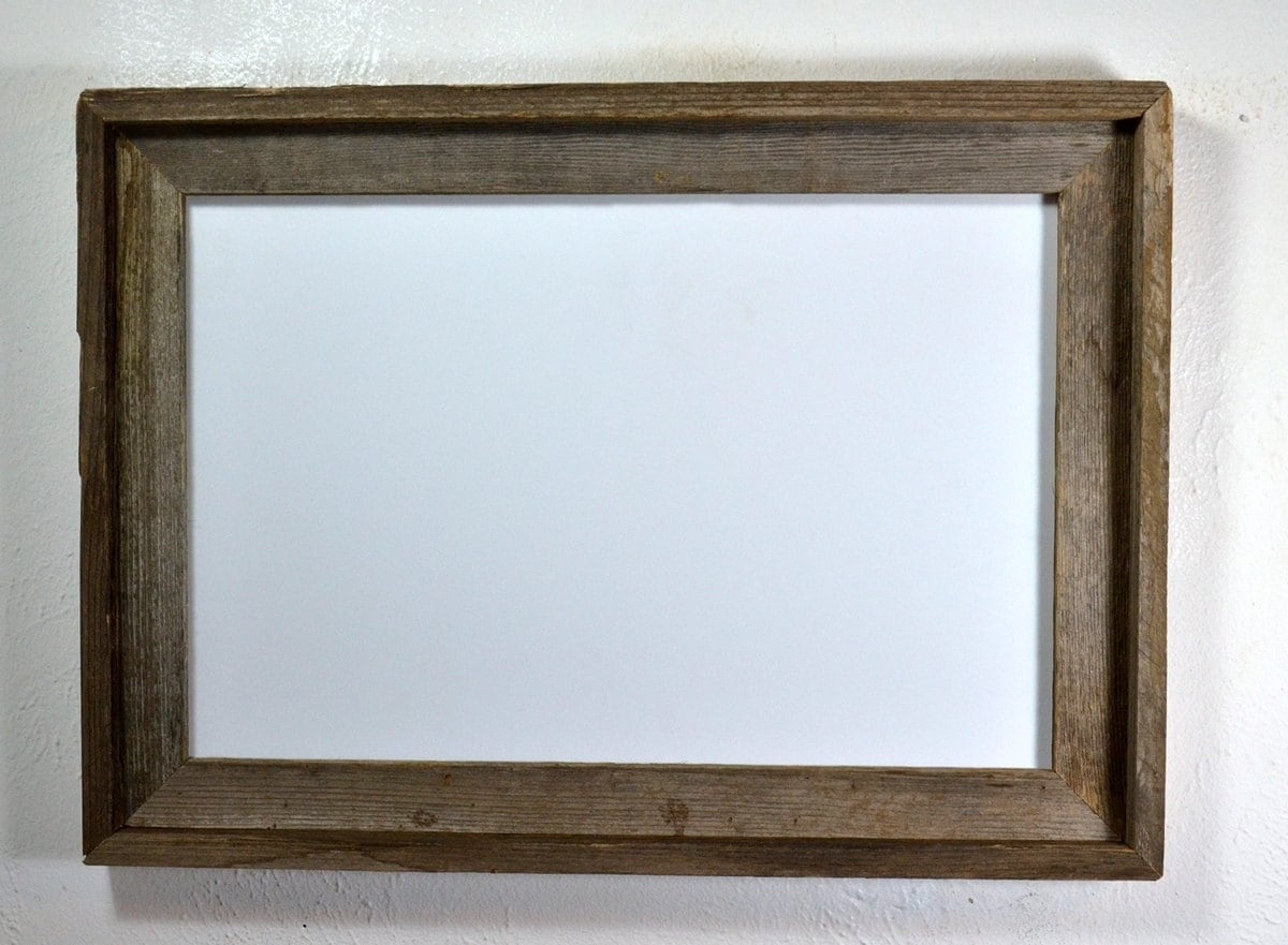 Poster frame from reclaimed wood 12x18 rustic style from barnwood4u ...