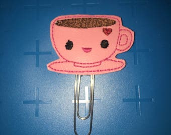 Coffee Cup Planner Clip