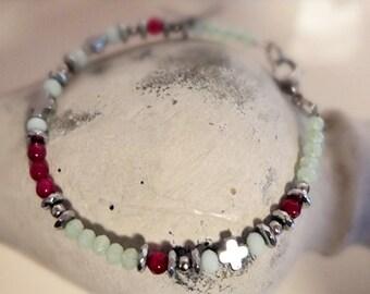"""Bracelet """"Mint & cross"""""""
