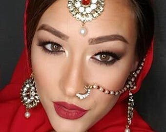 pierced indian nose ring bridal nose ring brides nose