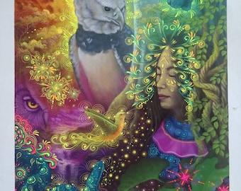 Ayahuasca Visionary Art by Jorge Ramirez, student of Amaringo