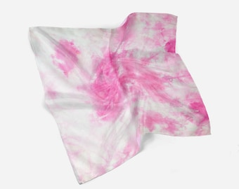 Small square handkerchief, hand-dyed silk handkerchief, neck scarf, mother's day gift, head scarf, boho chic