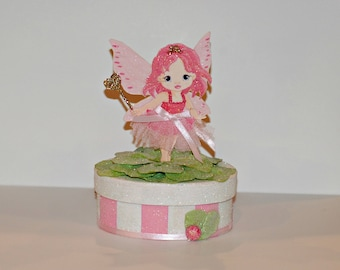 Girl's Jewelry Box, Girl's Gift Box, Tooth Fairy Box, Memento Box, Girl's Birthday Gift, Box for Trinkets, Fairy Box
