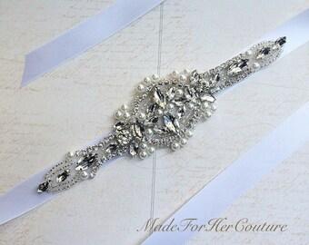 Wedding headband-wedding headpiece-bridal headband-headpiece-pearl bridal headpiece-crystal headpiece-wedding accessory-rhinestone headband