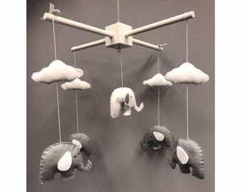 Nursery Mobile, Baby Mobile, Cot Mobile, Elephant Mobile