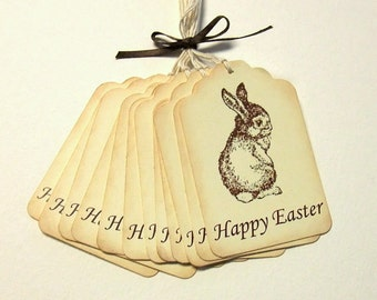Happy Easter Bunny Tags