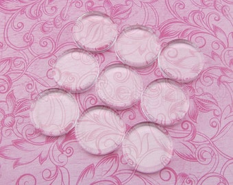 """25 - 20mm Round Glass Tiles - Flat on Both Sides - Clear Tiles - For Photo Pendants Mosaics Trays  - 20 mm 25/32"""" Inch Diameter"""