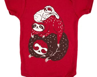 Sloth baby clothes unisex baby clothing newborn, animal baby clothes, hipster baby clothes, gender neutral baby clothes, sloth baby outfit