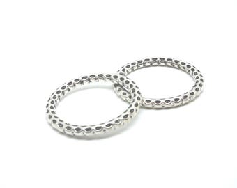 2 rings silver hallmarked 35x35mm