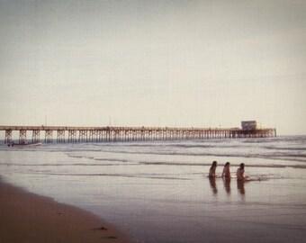 Three Girls at the Beach - 12x18 Photographic Print