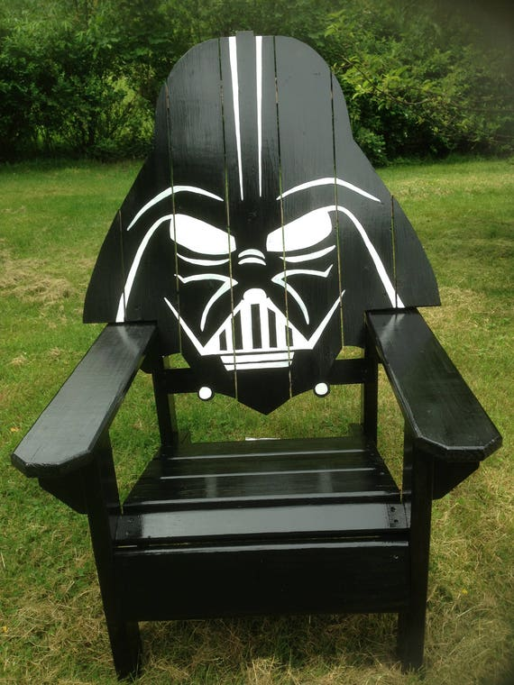 Darth Vader Adirondack Chair Painted Version Star Wars Themed