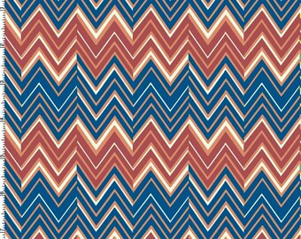 ProSoft® Waterproof 1 mil PUL Print - Ziggy Zaggy Terracotta Waves (sold by the yard)