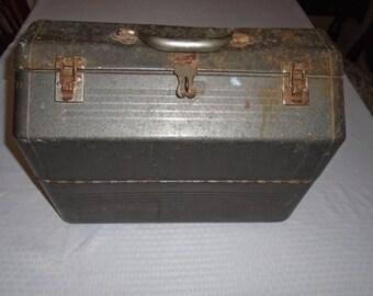 Old Toolbox.  Vintage toolbox.  Metal toolbox.  toolbox