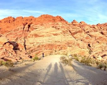 Red Rock Canyon Shadows