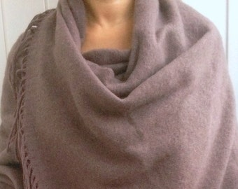 MERINO WOOL SHAWL Chocolate Shawl Wool Camel scarf oversized  wrap merino wool shawl gift for Mom Mothers Day Gift