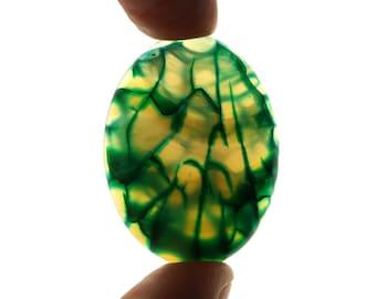 Green Dragon Veins Agate cabochon stone EA577