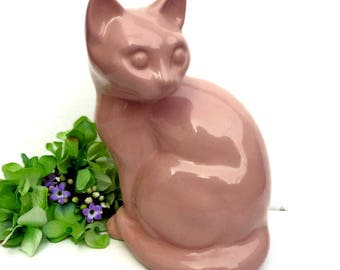 Vintage Rustic decor Animal Figurine Cat  Figurine porcelain  Figurine porcelain  statue Cat statue animal statue Vintage Home Decor
